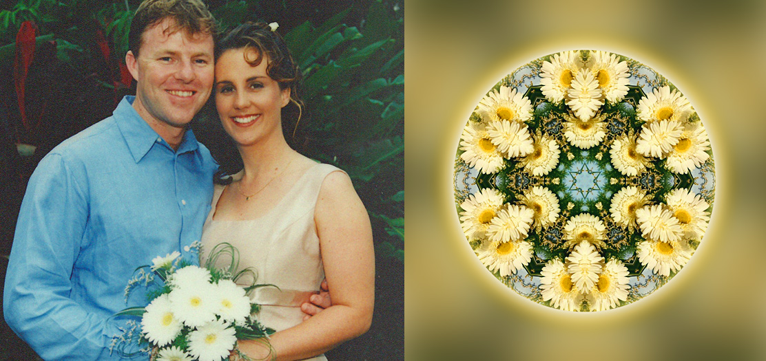 Picture of a couple and their Wedding Mandala